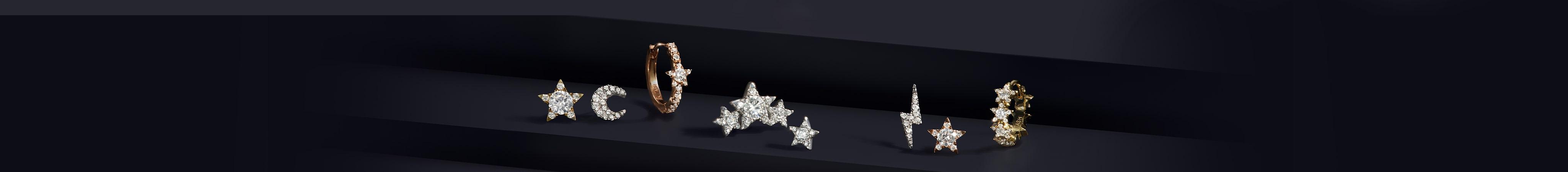 Star and Moon Earrings