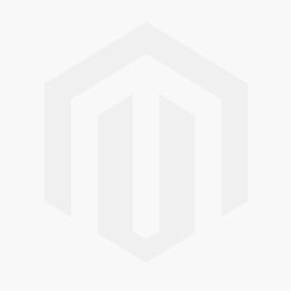 Med. Matte Skull with Black Diamond Eyes Tash Thread - WHITE GOLD Image #1