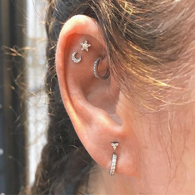 Moon studs Lunar half moon earrings Moon Post Earrings Mini Moon earrings Hammered Sterling silver Small Moon Stud Tiny Moon Studs L-STM004