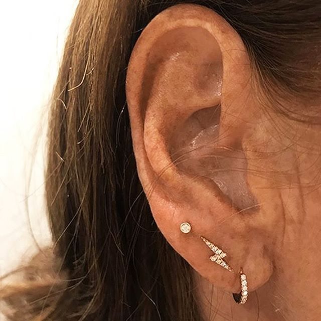 d5ca04561 The leftmost Scalloped Set Diamond adds a bright accent to the high lobe,  while the angular, punk, Diamond Lightning Bolt brings a ...