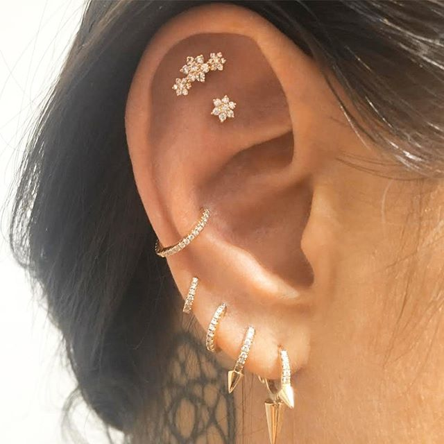 In The Tash Rook Of This Ear We See A Diamond Flower Garland Three Flowers Below There S Just Solo